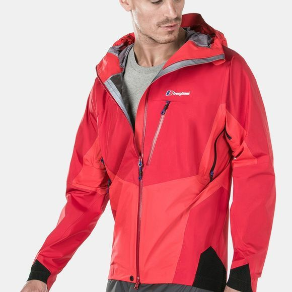 Berghaus Mens Changtse Shell Jacket Haute Red / Flame / Black