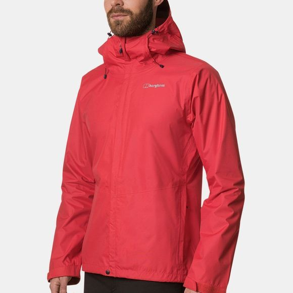 Berghaus Mens Deluge Vented Shell Jacket Flame