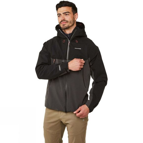 Craghoppers Mens Trelawney Jacket Black Pepper/Black