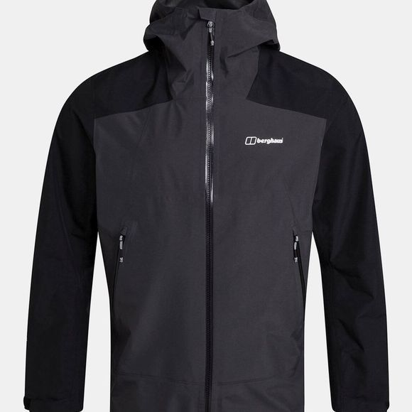 Berghaus Mens Paclite Peak Jacket Grey Pinstripe/Jet Black