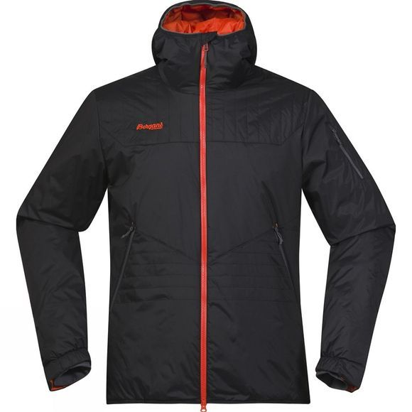Bergans Mens Surten Insulated Jacket Black / Koi Orange