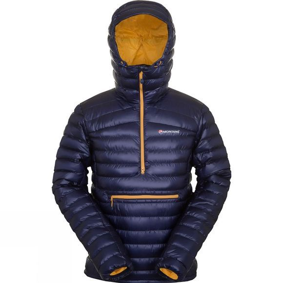 Montane Mens Featherlite Down Pro Pull-On Antarctic Blue/Goldmine Lining