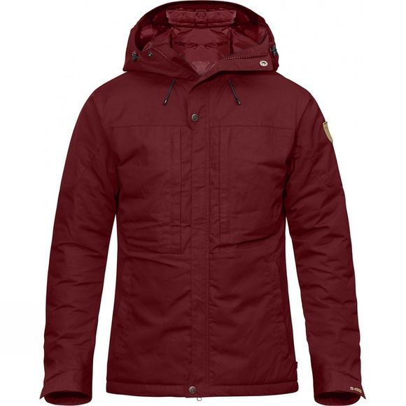 Fjallraven Mens Skogsö Padded Jacket Red Oak
