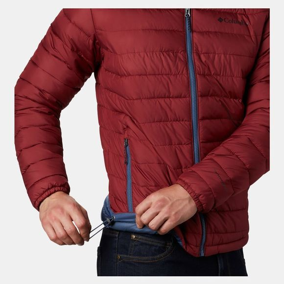 Columbia Mens Powder Lite Jacket Red Jasper/Dark Mountain