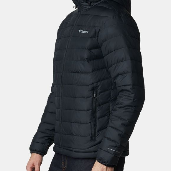 Columbia Mens Powder Lite Hooded Jacket Black