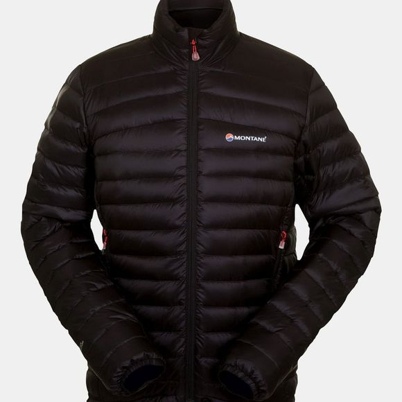 Montane Mens Featherlite Down Micro Jacket Black/Flag Red