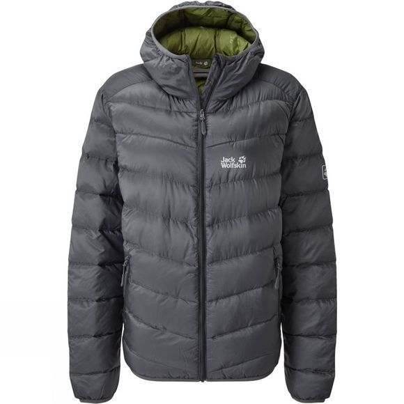 Jack Wolfskin Mens Sunnfjord Jacket  Ebony/Cypress Green