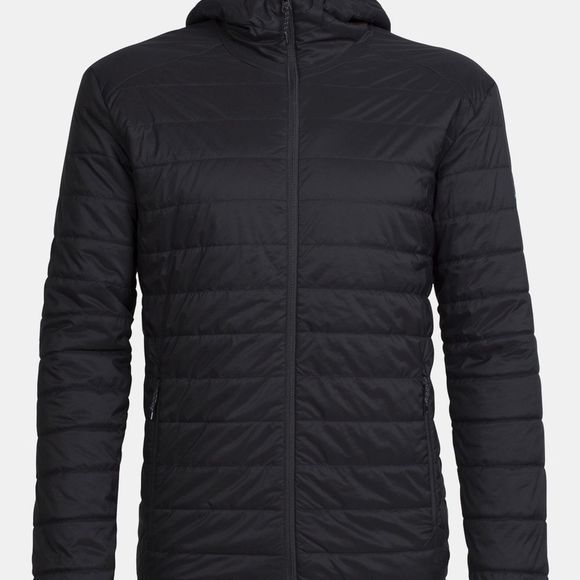 Icebreaker Mens Hyperia Hooded Jacket Black