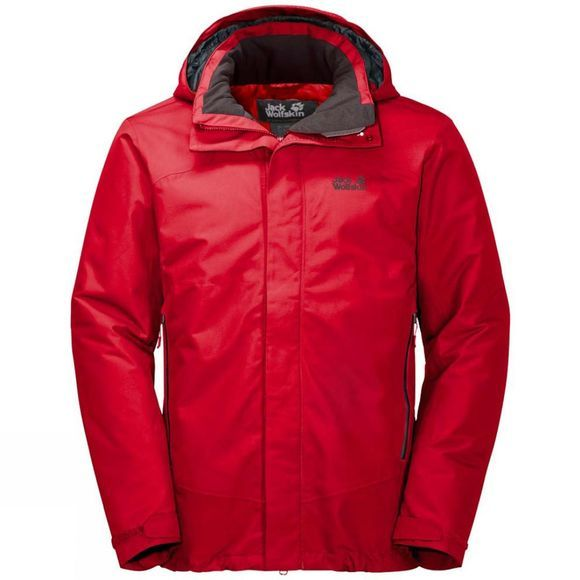 Jack Wolfskin Mens Northern Edge Jacket Peak Red