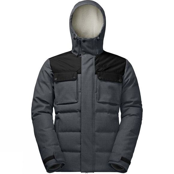 Jack Wolfskin Mens Banff Springs Jacket Dark Iron Checks