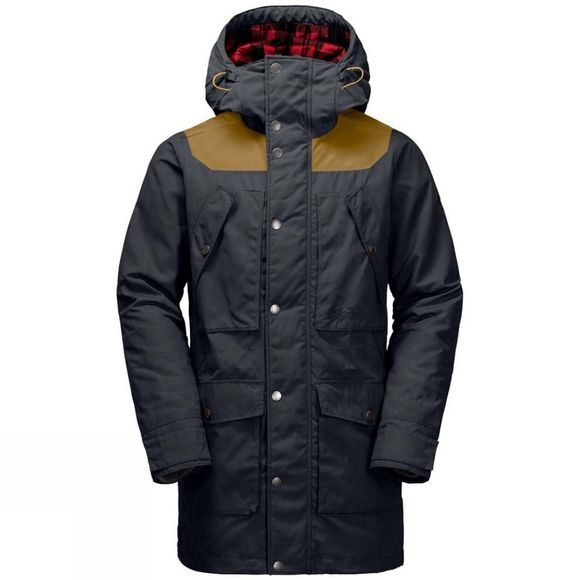 Jack Wolfskin Mens Fort Williams Parka Night Blue