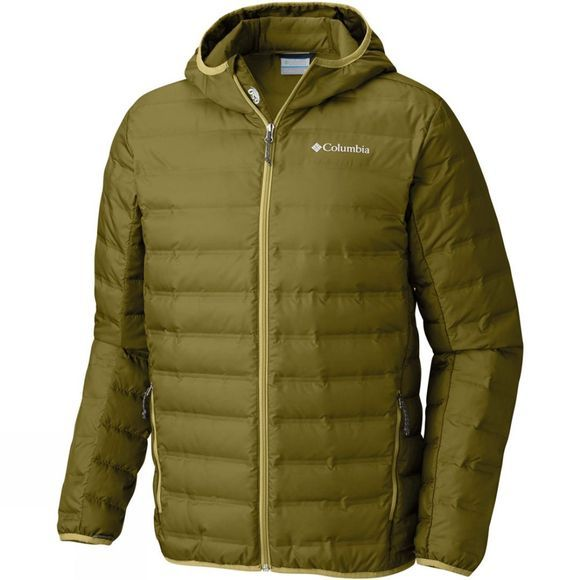 Columbia Mens Lake 22 Down Hooded Jacket Mossy Green