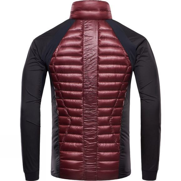 BlackYak Mens Lightweight Down Insulation Stretch Jacket Red Mahogany