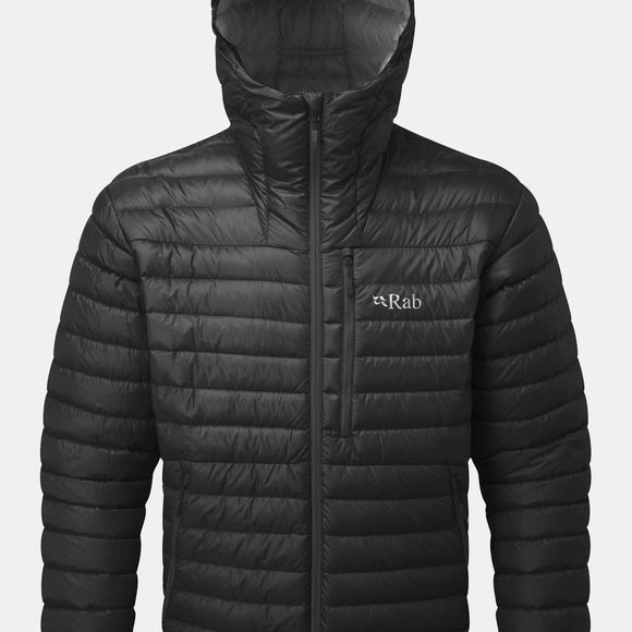 Rab Mens Microlight Alpine Jacket Black/ Shark