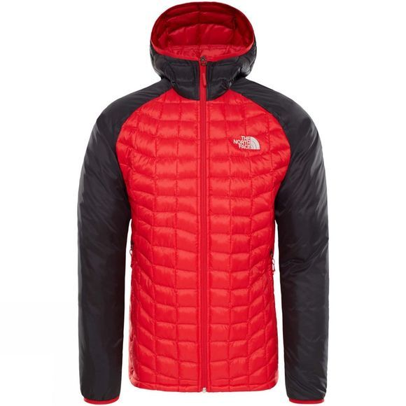 The North Face Mens Thermoball Sport Hoodie Salsa Red/TNF Black