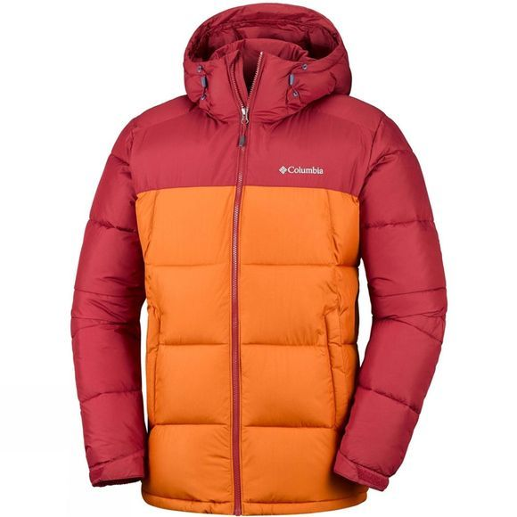 Columbia Mens Pike Lake Hooded Jacket Red Element/ Bright Copper