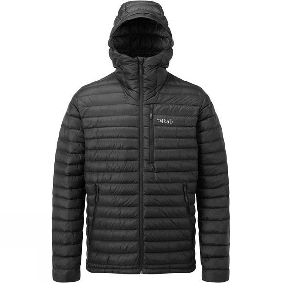 Rab Mens Microlight Alpine Long Jacket 2018 Black / Shark