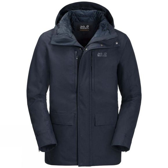 Jack Wolfskin Mens West Coast Jacket Night Blue
