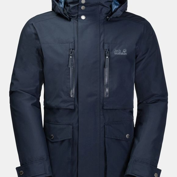 Jack Wolfskin Mens Bridgeport Bay Jacket Night Blue