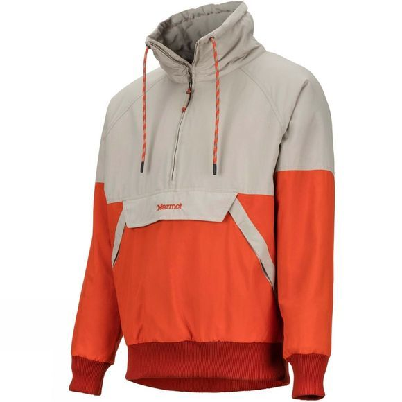 Marmot Mens Lynx Insulated Anorak Light Khaki/Orange Haze
