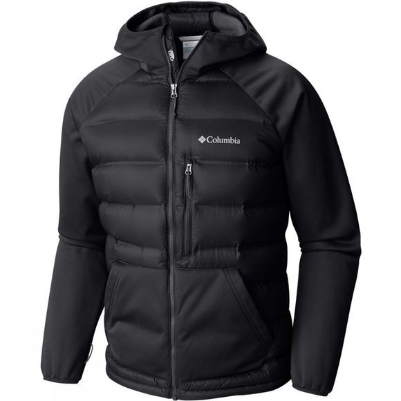 Columbia Mens Ramble Down Hybrid Hooded Jacket Black