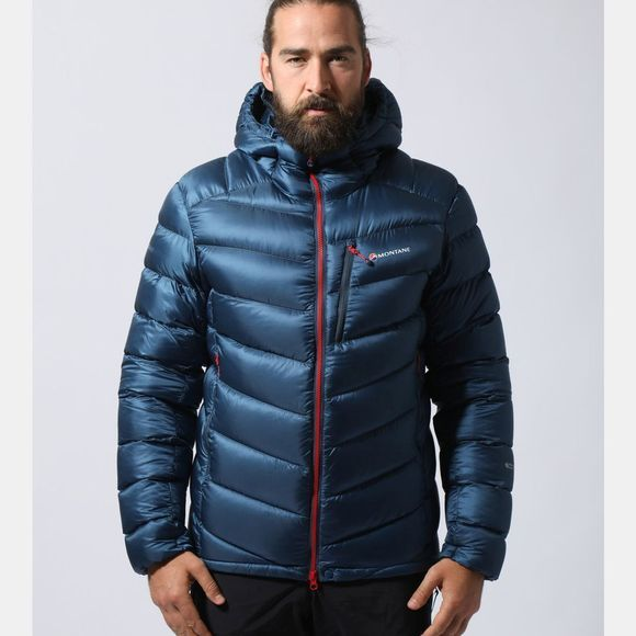 Montane Mens Anti-Freeze Jacket Narwhal Blue/Alpine Red