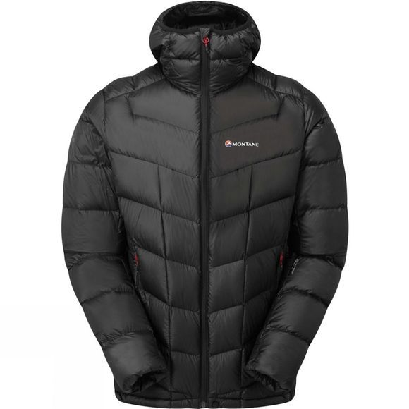 Montane Mens Northstar Lite Jacket Black/Alpine Red