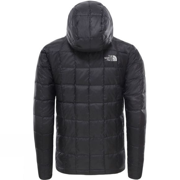 The North Face Mens Kabru Hooded Down Jacket Tnf Black/Acoustic Blue