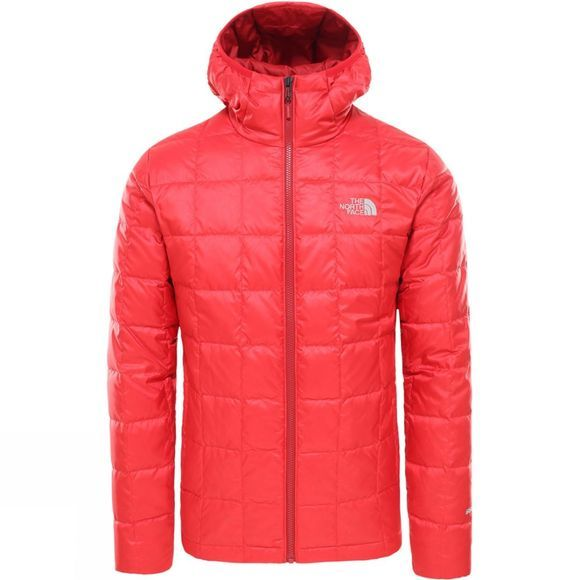 The North Face Mens Kabru Hooded Down Jacket Tnf Red