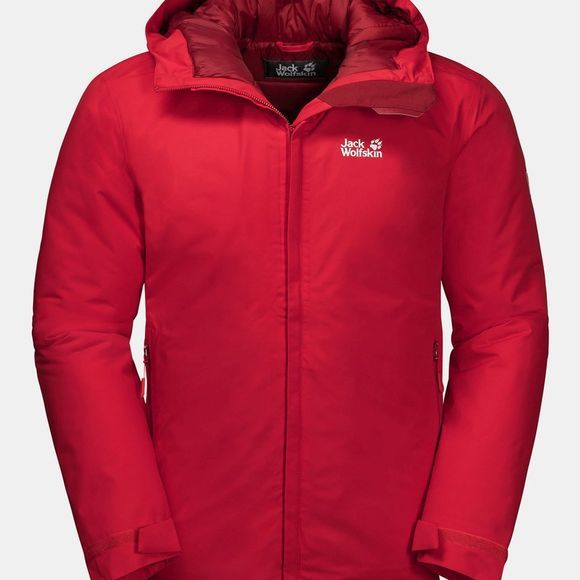 Jack Wolfskin Argon Storm Insulated Jacket Red Lacquer