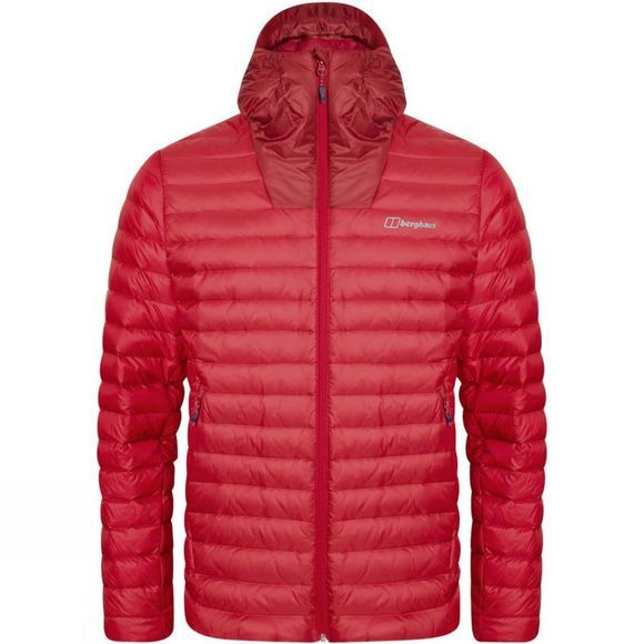 Berghaus Mens Finnan Reflect Down Jacket Red Dahlia/Haute Red