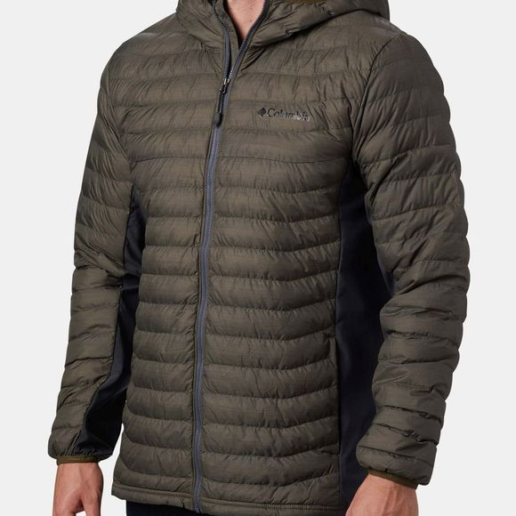 Columbia Mens Powder Lite Light Hooded Jacket New Olive, Heather Print, Graphite