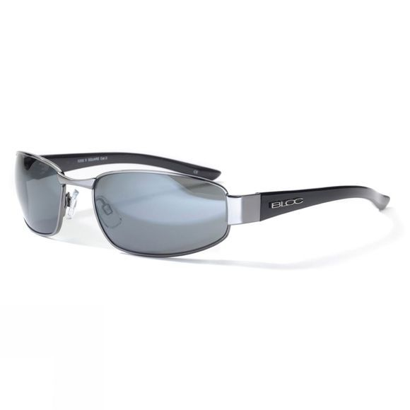 Bloc X Square Sunglasses Gun Shiny Black/Smoke