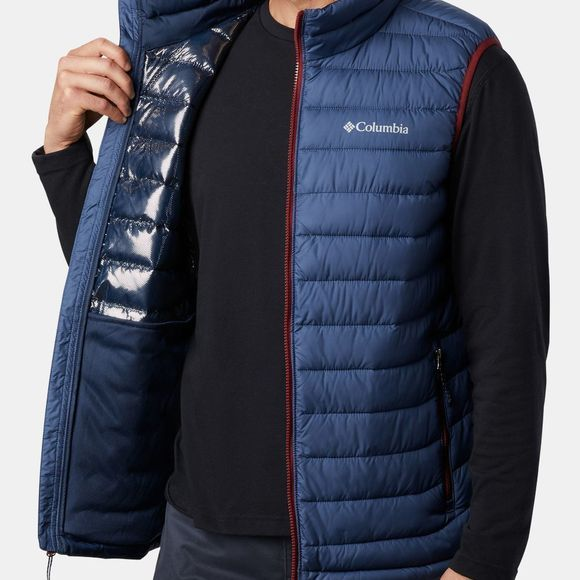 Columbia Mens Powder Lite Vest Dark Mountain/Red Jasper