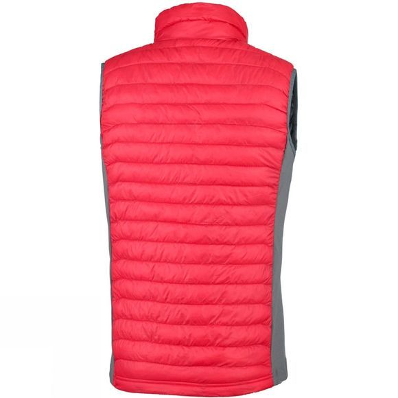 Columbia Mens Powder Pass Vest Mountain Red/ Graphite