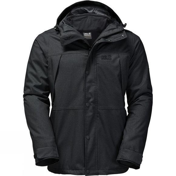 Jack Wolfskin Mens Harbour Bay 3-in-1 Jacket Black