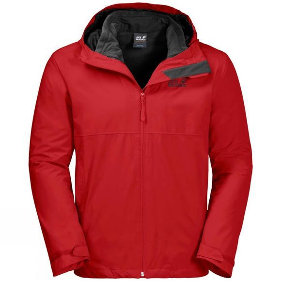 Jack Wolfskin Mens Norrland 3In1 Jacket Peak Red