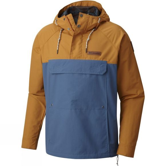 Columbia Mens South Canyon Creek Anorak Canyon Gold / Blue Heron