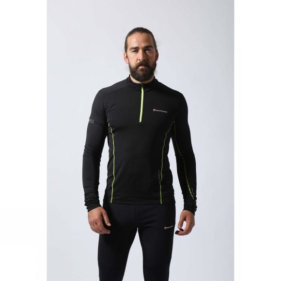 Montane Mens Dragon Pull-On Black/Laser Green