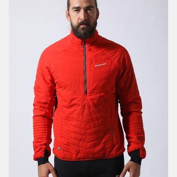 Montane Mens Fireball Verso Pull-On Flag Red/Shadow