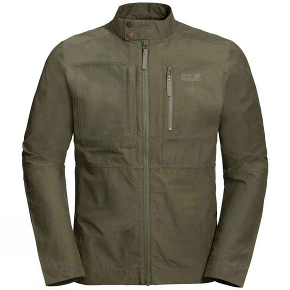 Jack Wolfskin Mens Port Lincoln Jacket Woodland Green