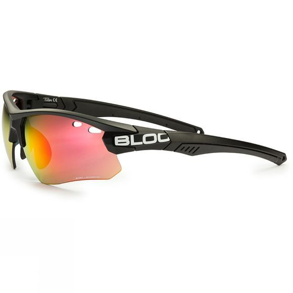 Bloc Titan Single Lens Sunglasses Black/Red Mirror
