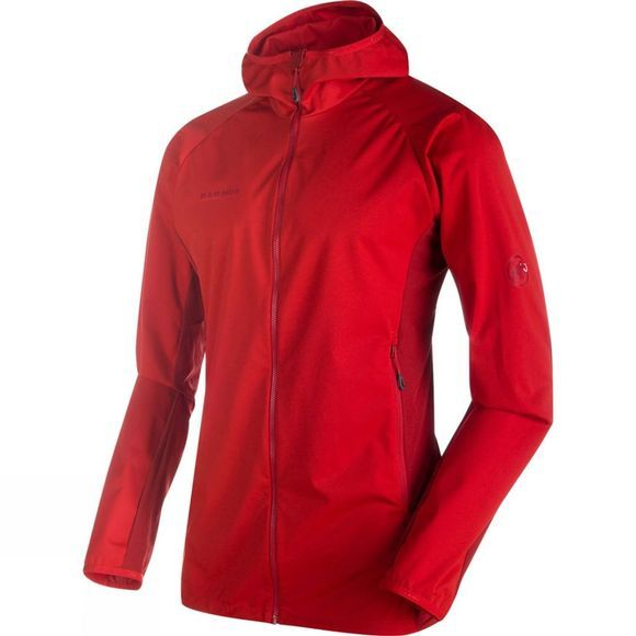 Mammut Mens Kento Light SO Hooded Jacket Magma/Dark Magma
