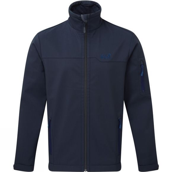 Jack Wolfskin Mens Hayford Softshell Jacket Night Blue/Royal Blue