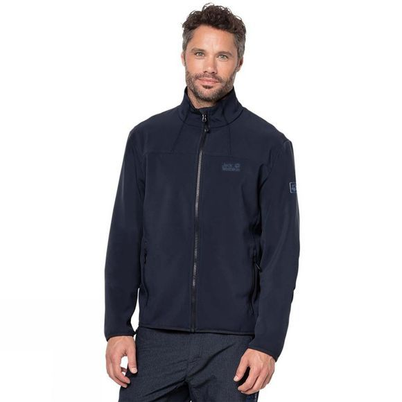 Jack Wolfskin Mens Essential Track Jacket Night Blue
