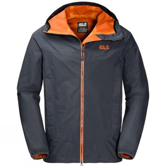 Jack Wolfskin Mens Colourburst Jacket Ebony