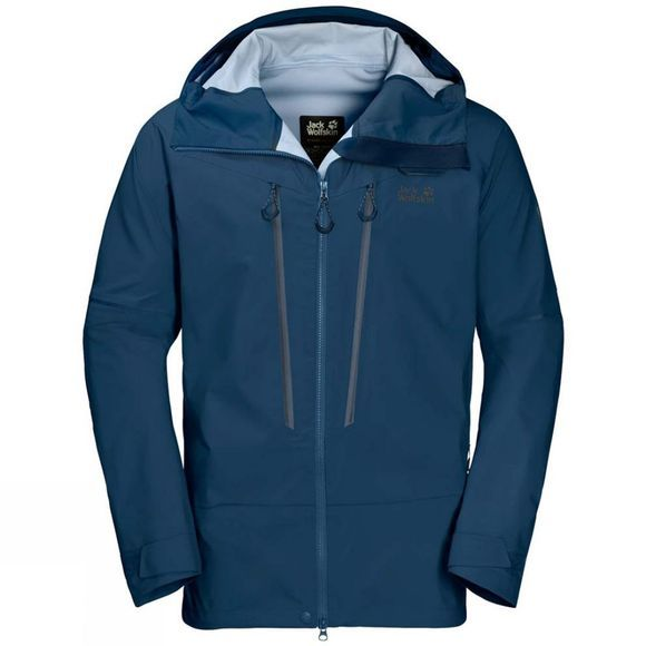Jack Wolfskin Mens Exolight Mountain Jacket Poseidon Blue