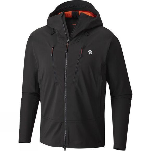 Mountain Hardwear Mens Touren Hooded Jacket  Stealth Grey