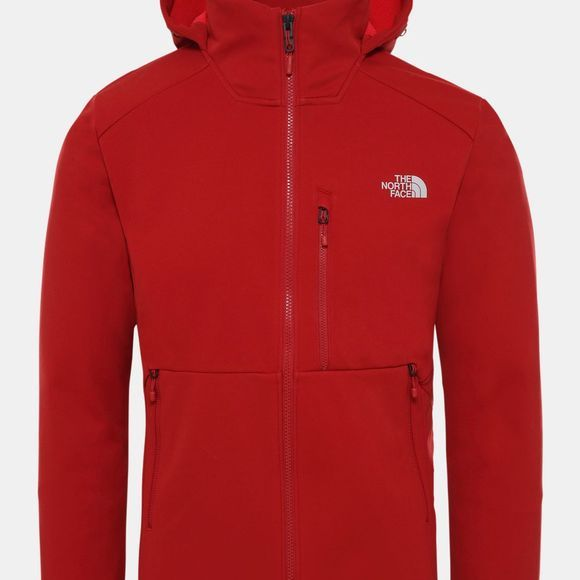 The North Face Mens Kabru Softshell Hooded Jacket Cardinal Red