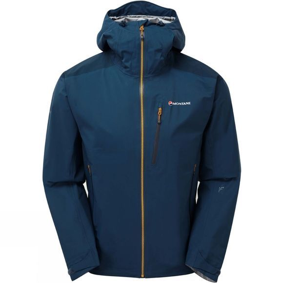 Montane Mens Fleet Jacket Narwhal Blue/Inca Gold